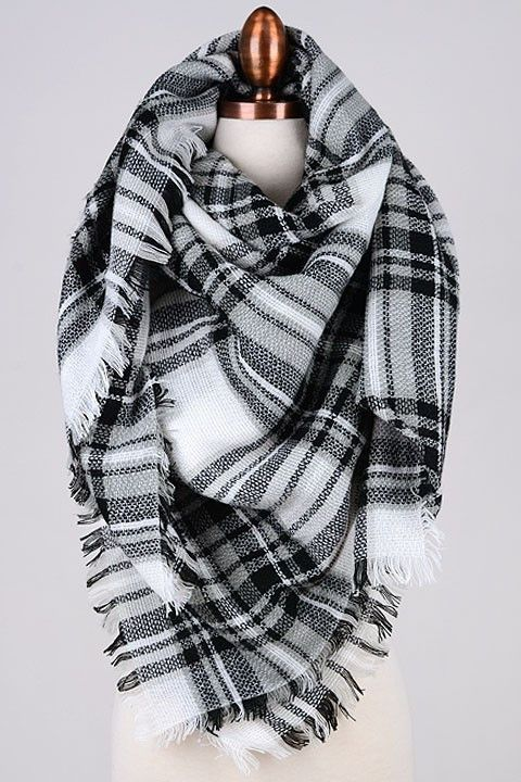 Blanket Scarf - White