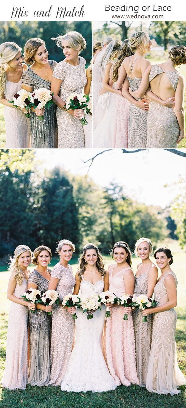Mix and Match Bridesmaid Dresses Done Right: 12 Ways to Rock the