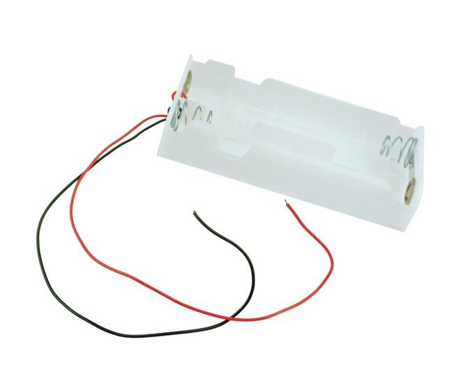 C Type X 4 Battery Holder Black With 24cm Leads 110 X 55 X 24mm 24cm Leads White E3301 Free Uk Postage