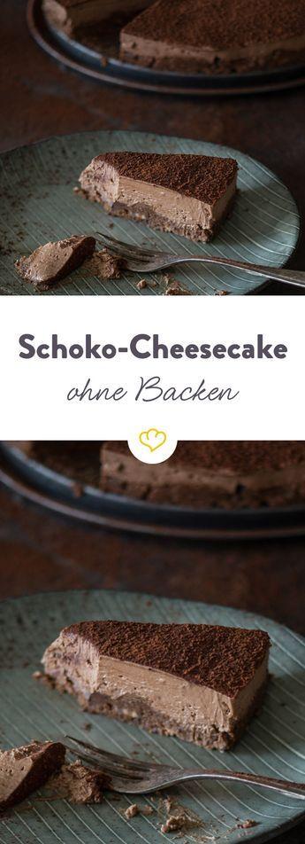 Mmmhh... ein Schokoladentraum. Cremig, nicht zu süß und mit knusprigem Keksboden. Und du musst du nicht mal den Ofen dafür anschmeißen.