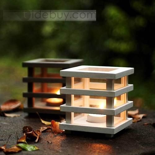 Innovative Wooden Candle Holders
