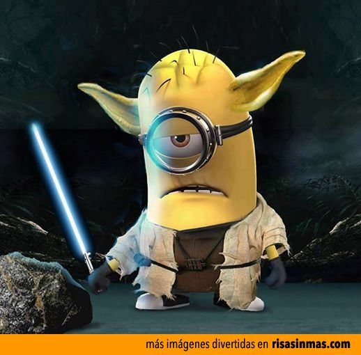 Minion Yoda omg too cute!