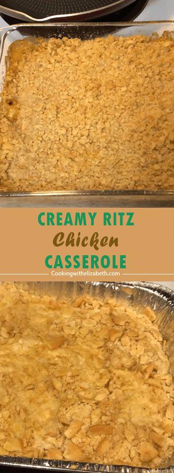 Creamy Ritz Chicken Casserole – Delicious recipe…