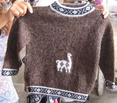 Dunkelbrauner #Kinder #Pullover mit Alpaka Muster, naturbelassene #Alpakawolle, 2-5 Jahren