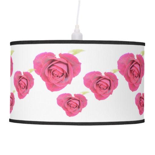 Heart shaped roses linen Pendant Lamp Shade