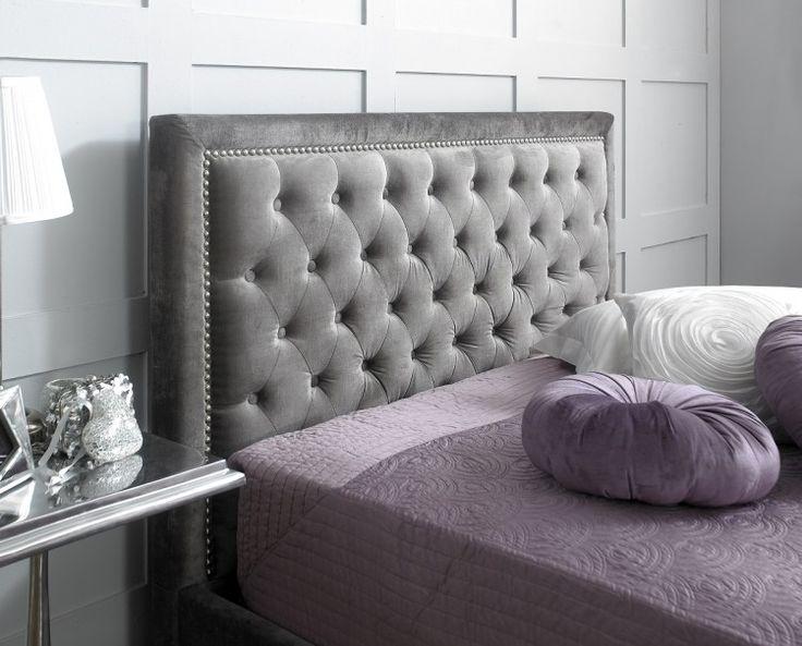 limelight rhea 5ft kingsize plush silver velvet fabric bed frame by limelight beds - Velvet Bed Frame