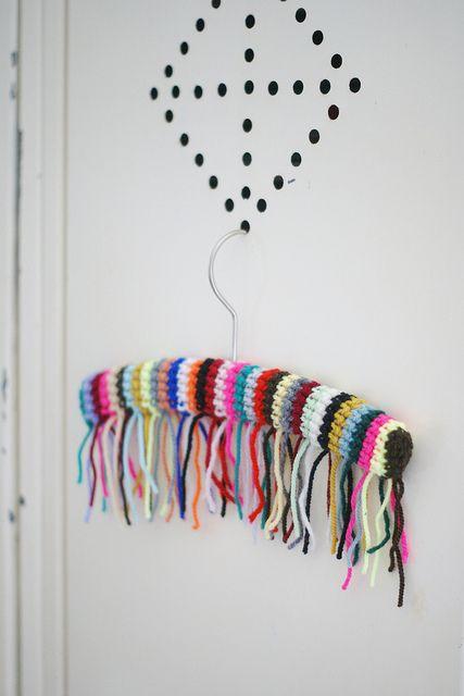 wood & wool fringes hanger by wood & wool stool, via Flickr