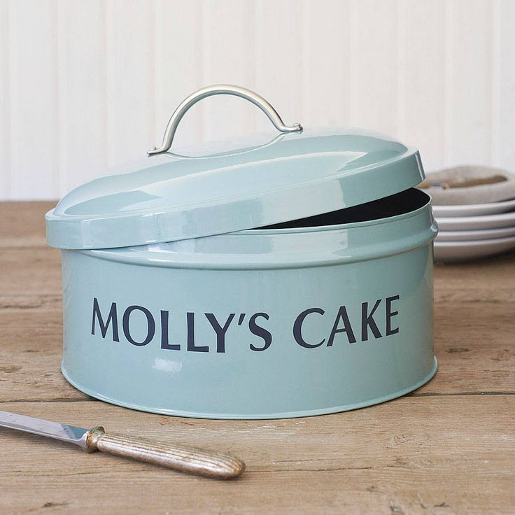 Personalised Cake Tin from notonthehighstreet.com