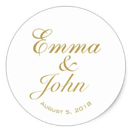ELEGANT NAMES WEDDING FAVOR STICKERS - romantic wedding love couple marriage wedding preparations