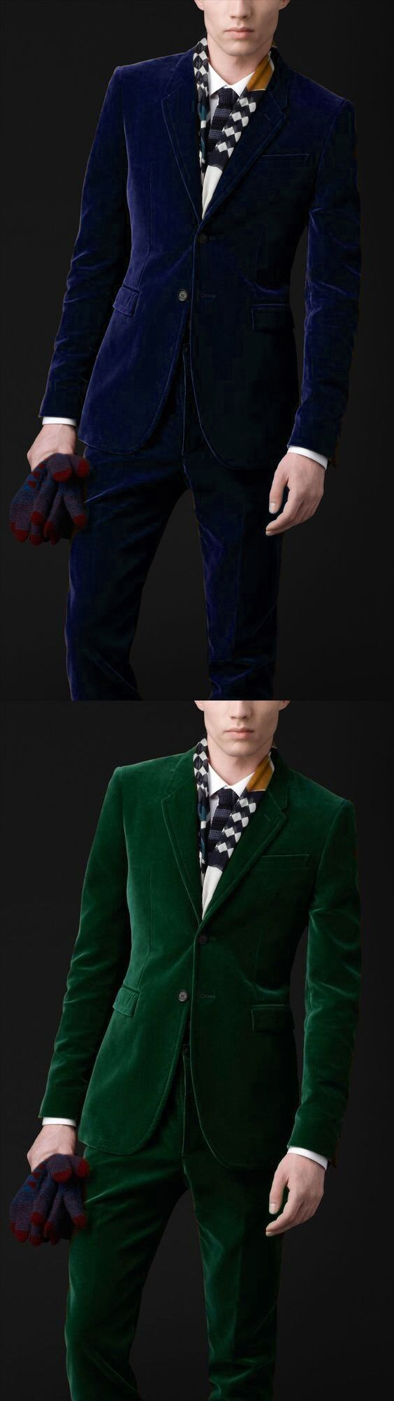 Latest Coat Pant Designs Navy Blue Green Velvet Prom Men Suit Slim Fit Tuxedo 2 Piece Blazer Custom Groom Suits Terno Masculino
