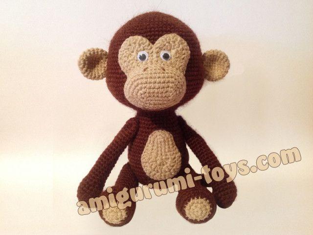 Вязаная обезьянка. Схема вязания.