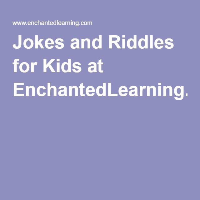 Jokes and Riddles for Kids at EnchantedLearning.com