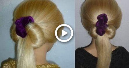Fast Hairstyles: Make Dutt: Everyday / School / College / Freizeit.Easy Donut Bun Hairstyle.