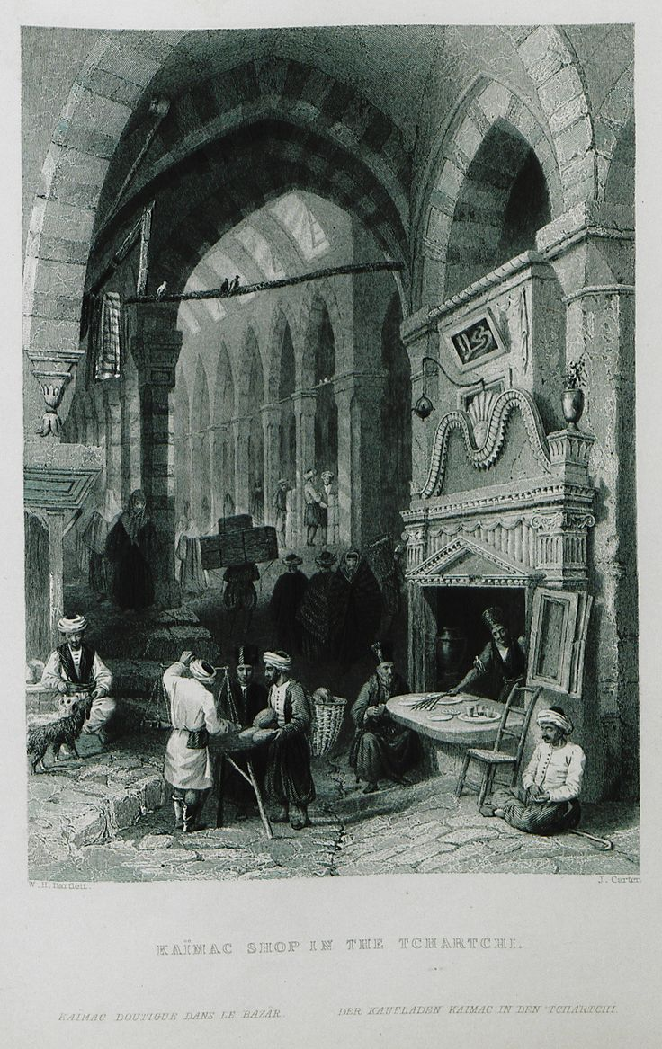 Kaymakçı Shop-(The Beauties of the Bosphorus; by Miss Pardoe, from drawings by W. H. Bartlett.)'1874