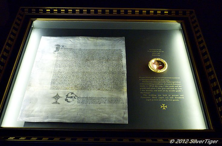 royal marriage contract between katheryn parr and henry viii