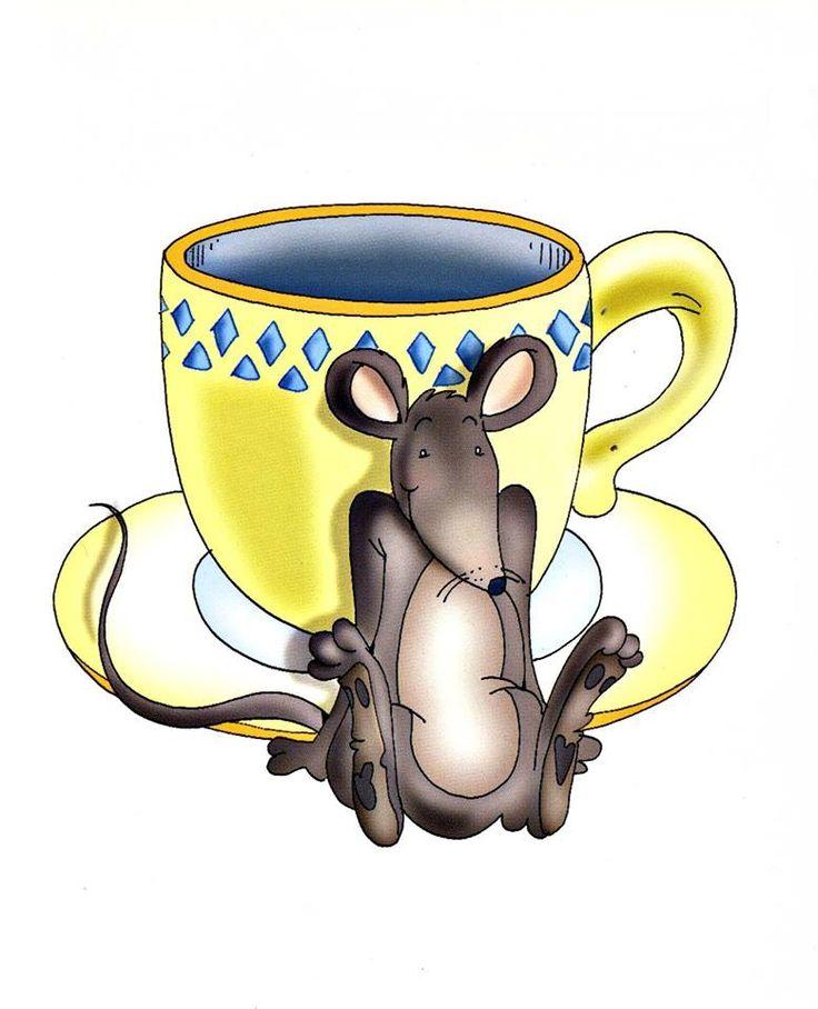 мышка в чашке картинки рисунки любого пряничного теста