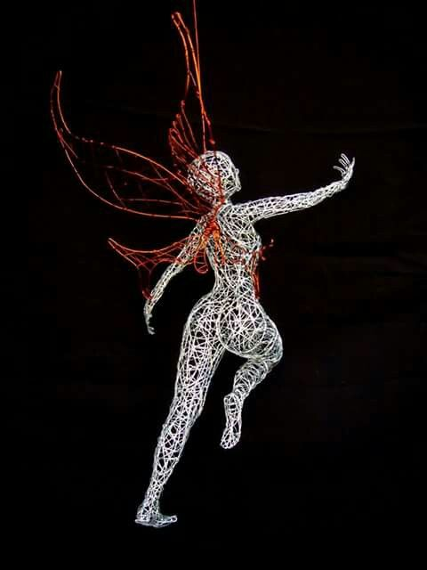Wire fairy #wireart #fairy #sculpture #feen #drahtkunst