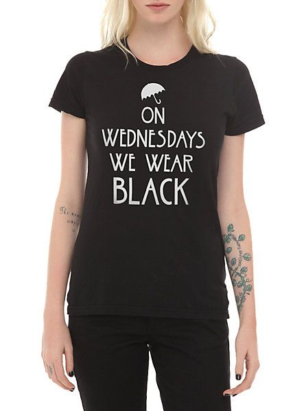 American Horror Story: Coven On Wednesdays We Wear Black Girls T-Shirt | Hot Topic