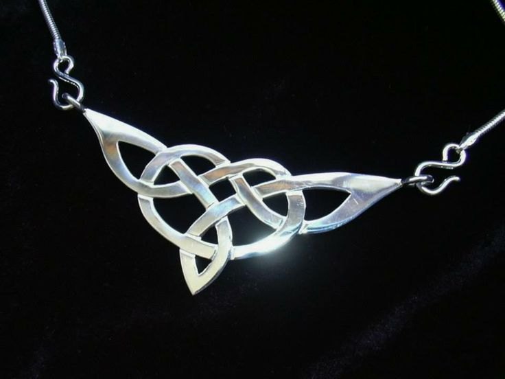 Handcrafted celtic knot necklace by Chasing Destiny Silver