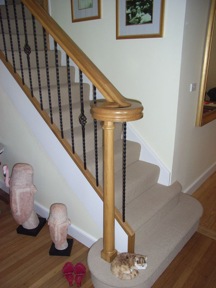 Closed rise stair with custom volute