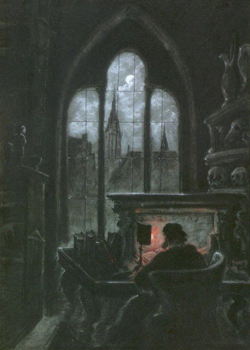 Carl Gustav Carus (1789–1869) Faust im Studierzimmer (Faust in His Study), c.1851