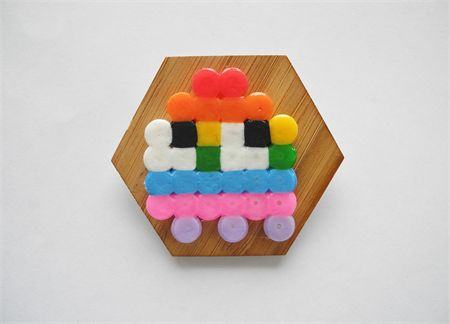 Pac-man Ghost Brooch - Rainbow | So Fancy | madeit.com.au