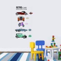 Retro vehicles!  Nu har du chansen att dekorera barnrummet med ett väggdekor med bilar. Det är inte vilka fordon som helst, utan det är retro bilar! De snygga motiven kombinerat med färgerna är en av anledningarna till varför ungarna älskar detta väggdekor!  Länk till produkt:http://www.feelhome.se/produkt/retro-vehicles/  #Homedecoration #art #interior #design #Walldecor #väggdekor #interiordesign #Vardagsrum #vägg #inredning #inredningstips #heminredning #bil #barn #barnrum #barninredning