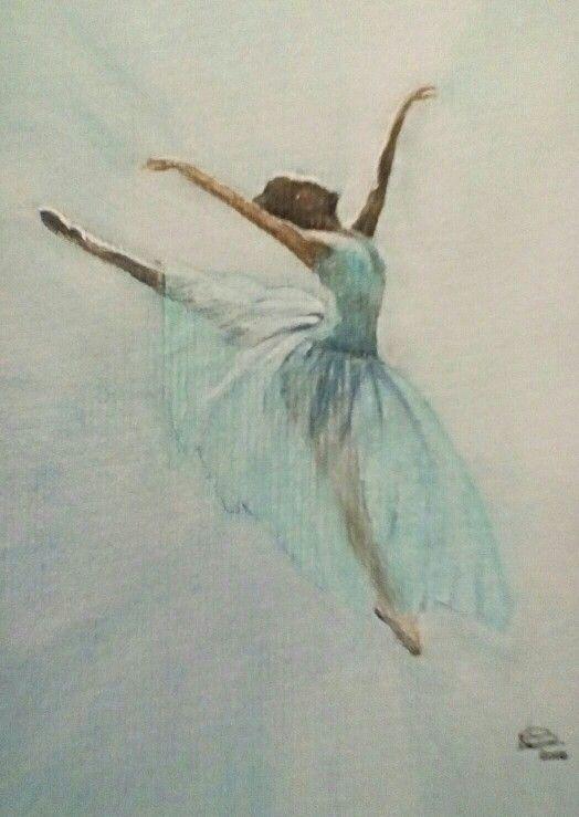 'Ballerina'. Watercolour by Norman Sumpton.