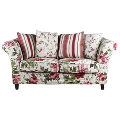 SOFA 2 SEATER FLORAL W/4 CUSHIONS 180X80X85 (POLYESTER/BIRCH)