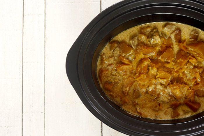 Cómo hacer crema de calabaza asada, chirivía y naranja en Crock Pot