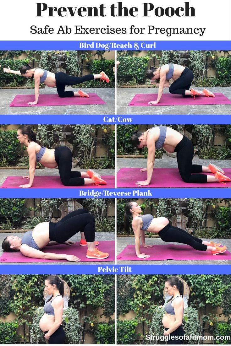 Safe Prenatal core exercises to prevent the pregnancy pooch