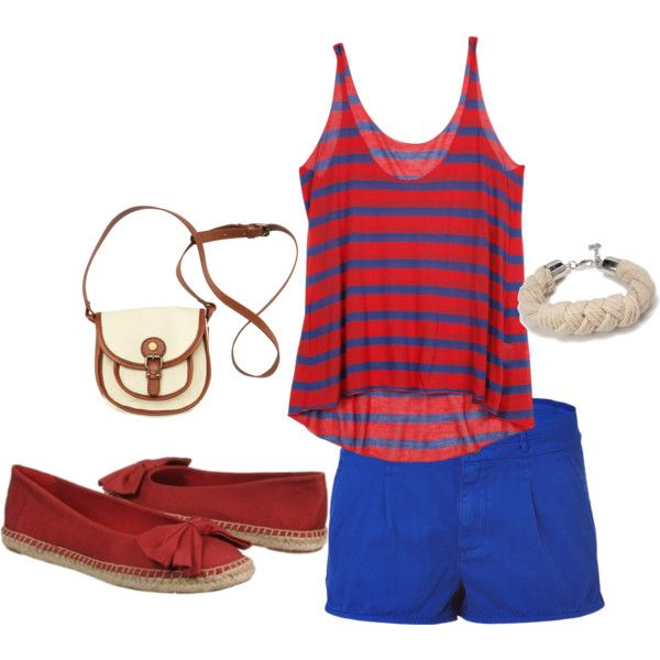 #RedWhiteandBlue Casual Outfit with Red Naturalizer Shoes.Fashion Places, Casual Fashion, Casual Outfit, Fashion Center, Fashion Wonderland, Fashion Looks
