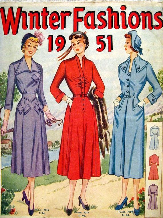 Your Place To Buy And Sell All Things Handmade Sewing Pattern Catalog Vintage Dress Patterns Retro Fashion