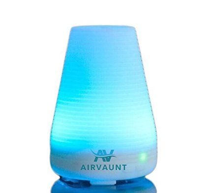Portable Essential Oil 100ml Ultrasonic Diffuser, Air Purifier, Humidifier, Mist, Spa Room, Vaporizer, Aromatherapy, Color Changing LED Lights, Scent, Therapeutic, Disperse, Fresh Air