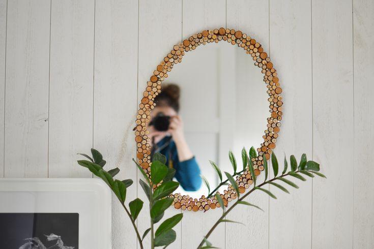 Spegelram med inspiration från naturen. #återbruk #redesign