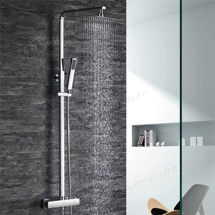 Neu Set Duschkopf Duschpaneel Duscharmatur Regendusche Duschbrause Duschsystem