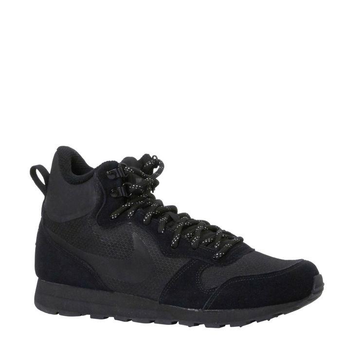 net binnen Nike sneakers MD Runner 2 Mid Prem Zwart/Zwart