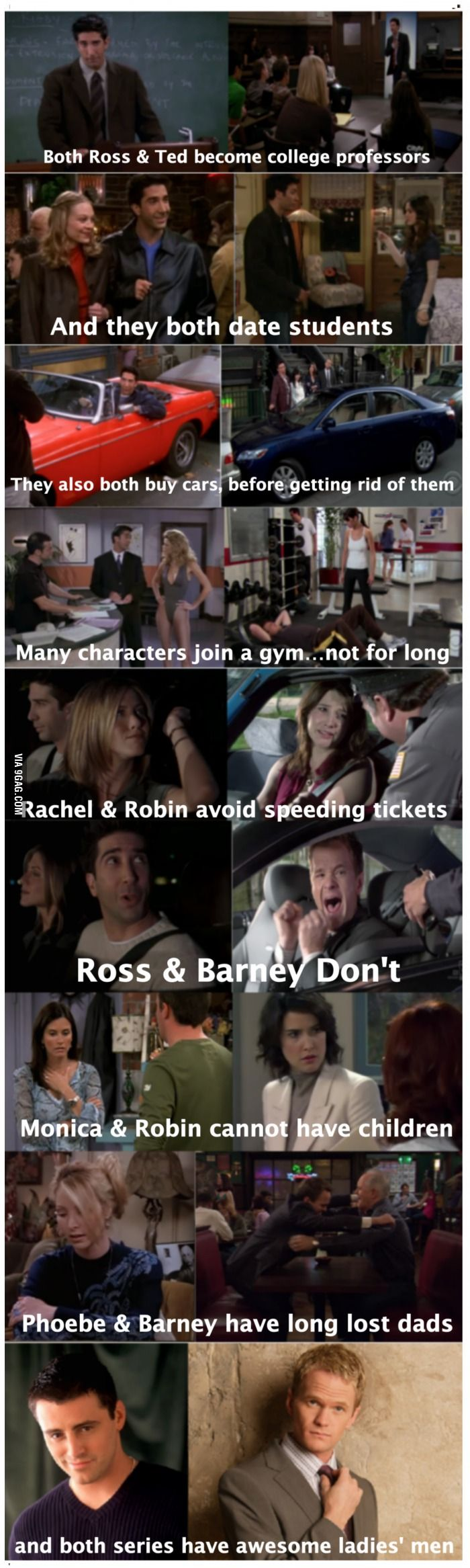 Similarities between Friends and How I Met Your Mother