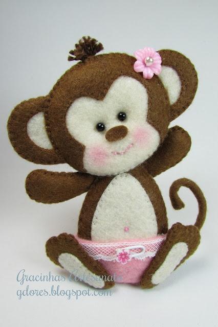 *FELT ART ~ monkey baby