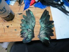 DIY Feather Wings (Her grammar and punctuation made me cringe, but her artistry is beautiful!)