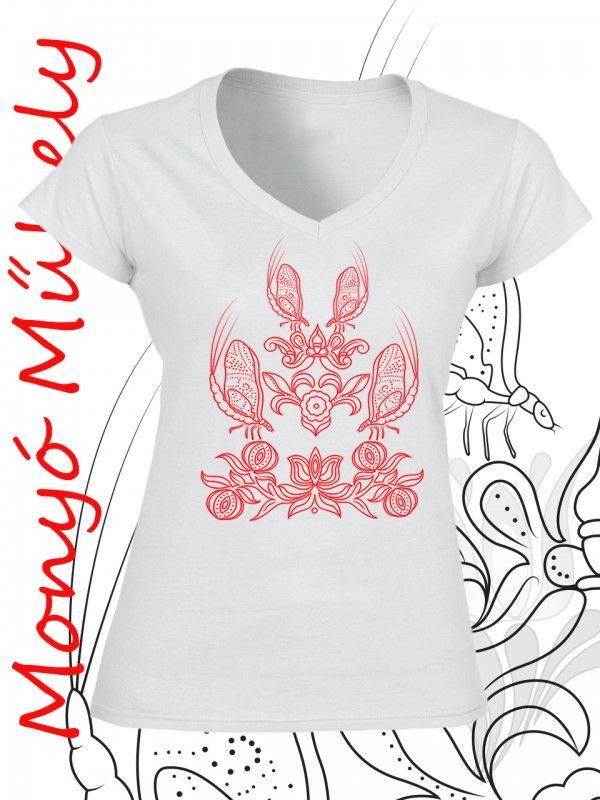 28c56ea8d3 Tiszavirág női póló - fehér   Termékek   Pinterest   Polos