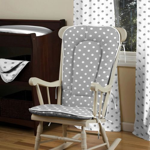 Gray and White Dots and Stripes Rocking Chair Pad - Best 25+ Rocking Chair Pads Ideas On Pinterest Rocking Chair