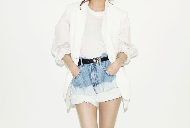 Bleach tie and dye shortsA Mini-Saia Jeans, Summer Outfit, Denim Fashion, Style Inspiration, Ties Dyes, Dips Dyes Shorts Style, Wash Denim, Bleach Jeans, Fashion Girls