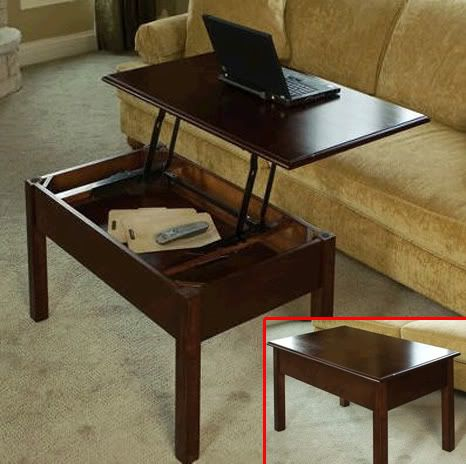 Convertible Coffee Table: coffee table and also desk