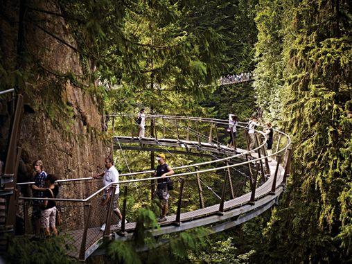 Cliffwalk at Capilano Suspension Bridge, Vancouver.