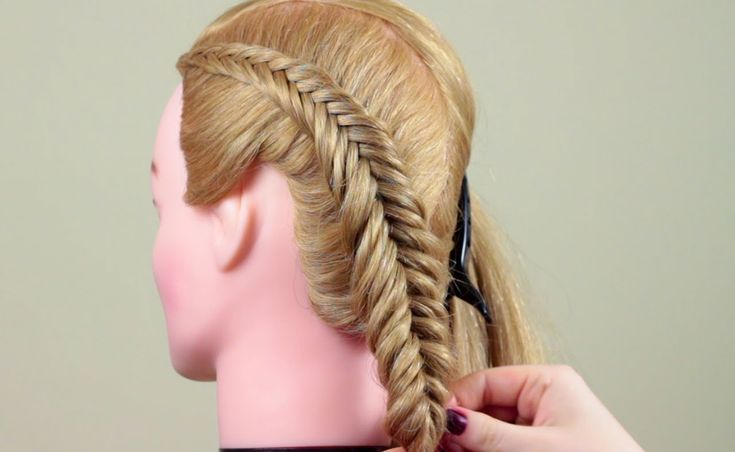 . Reverce Fish Tail Braid, she starts with a 3 strand, then goes into a fishtail, this makes your fishtail not loosen up.