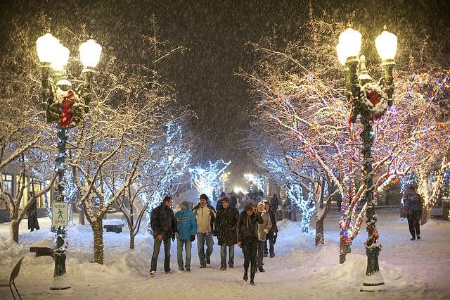 Snowy walk through downtown Aspen by Visit Colorado, via Flickr