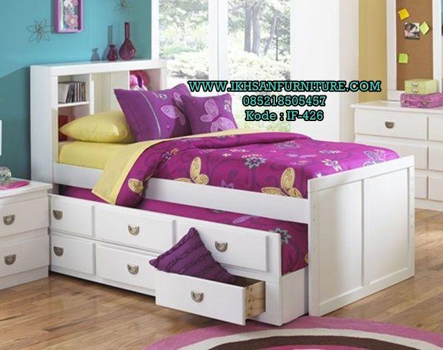 Tempat Tidur Anak Berlaci Model Sorong