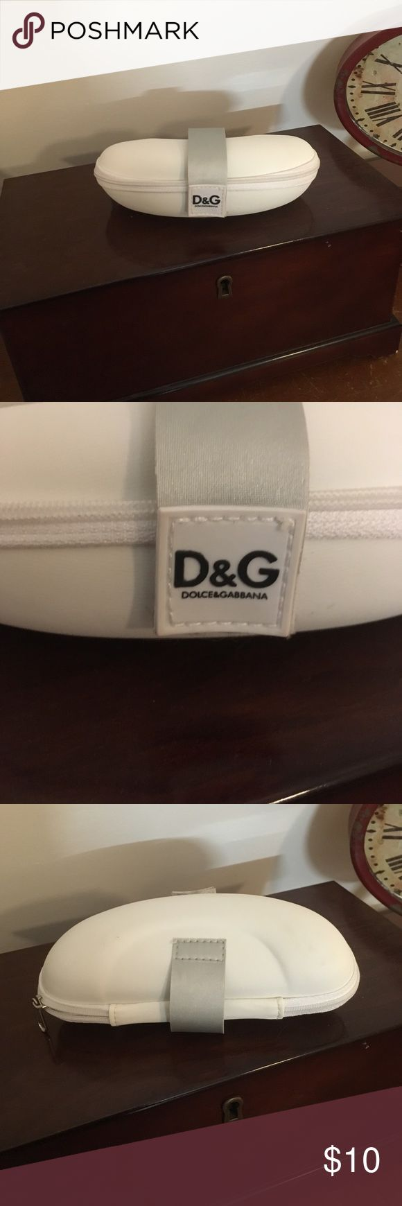 Dolce & Gabbana Eyewear Glasses Sunglasses Case Closes with zipper and has Velcro fastener which is still strong. No stains or other noted flaws with case. From a smoke free home. Dolce & Gabbana Accessories