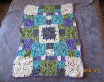 Fusion quilt patchwork with crochet border Ready от FlowergirlMila